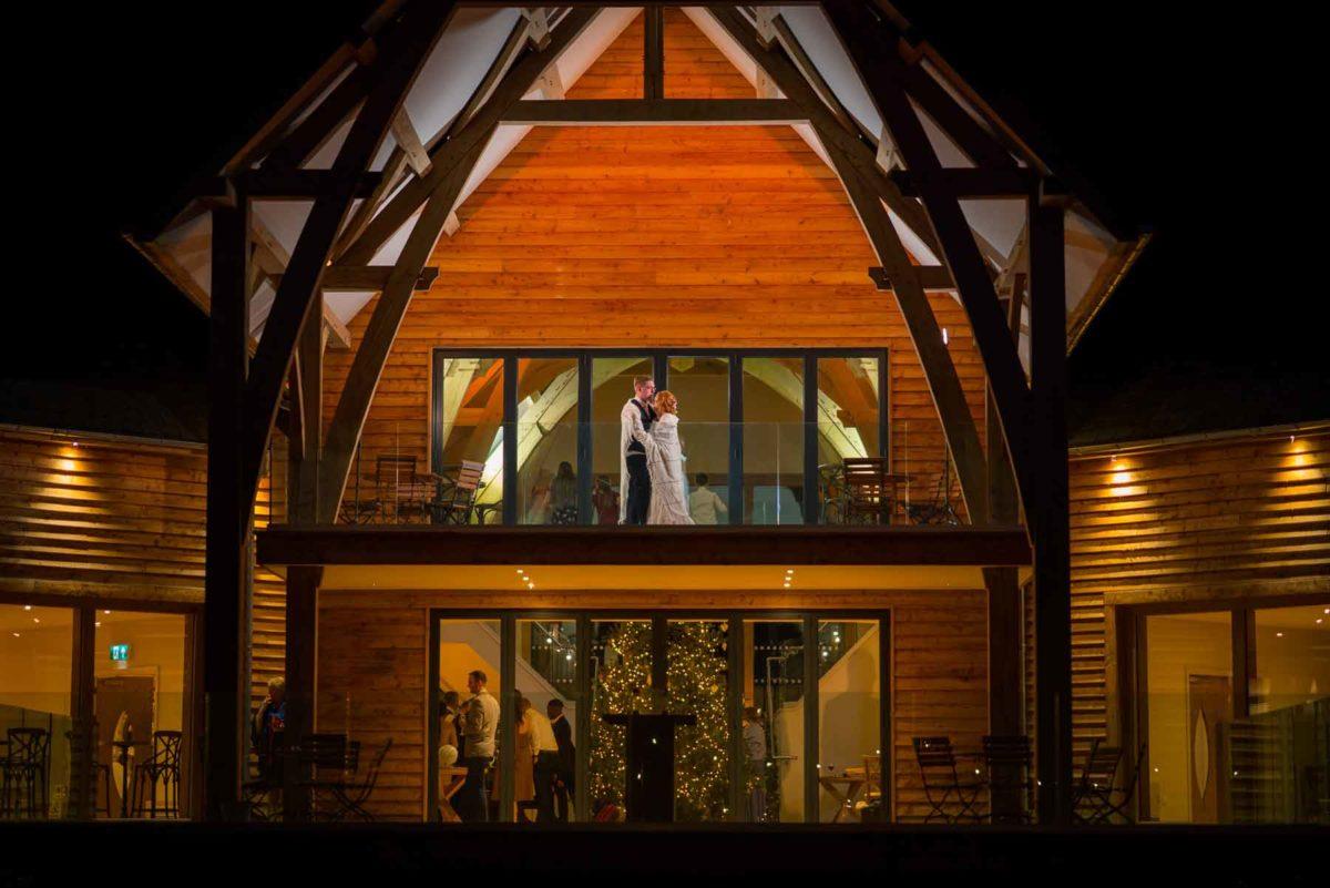 Bride and Groom - November Wedding at The Mill Barns